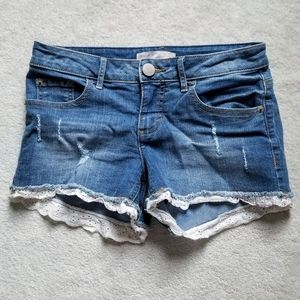 ❌SOLD❌ Lace Jean Shorts